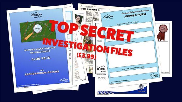 Lockdown Murder Mystery Clue Pack